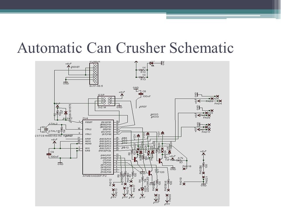 Automatic Can Crusher Schematic