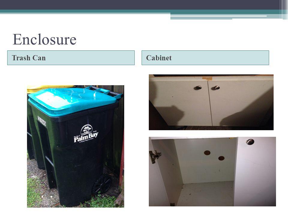 Enclosure Trash Can Cabinet