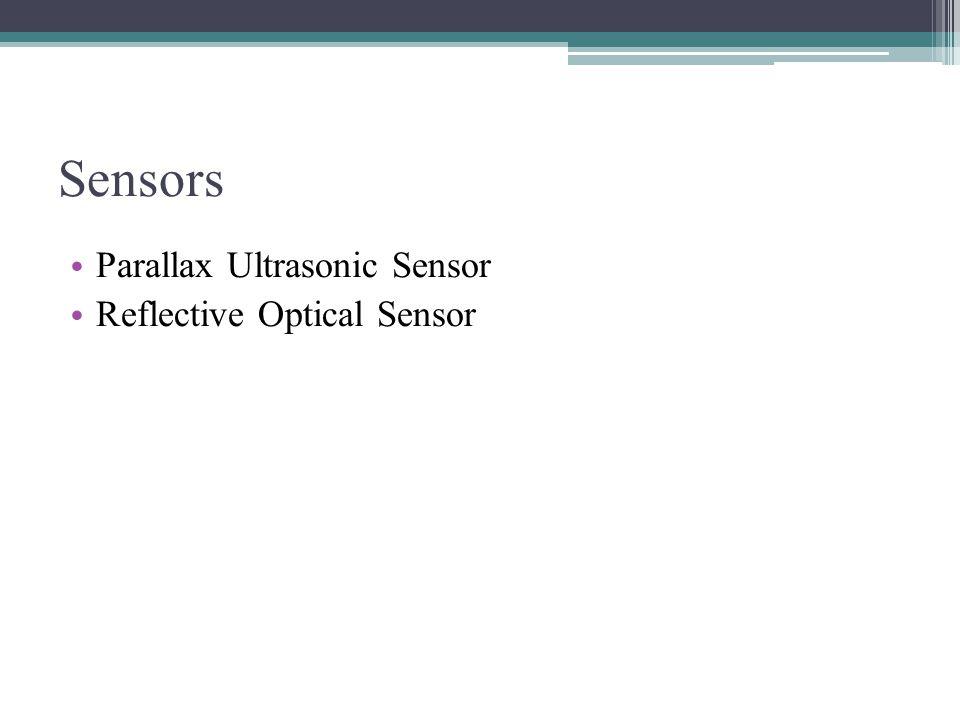 Sensors Parallax Ultrasonic Sensor Reflective Optical Sensor