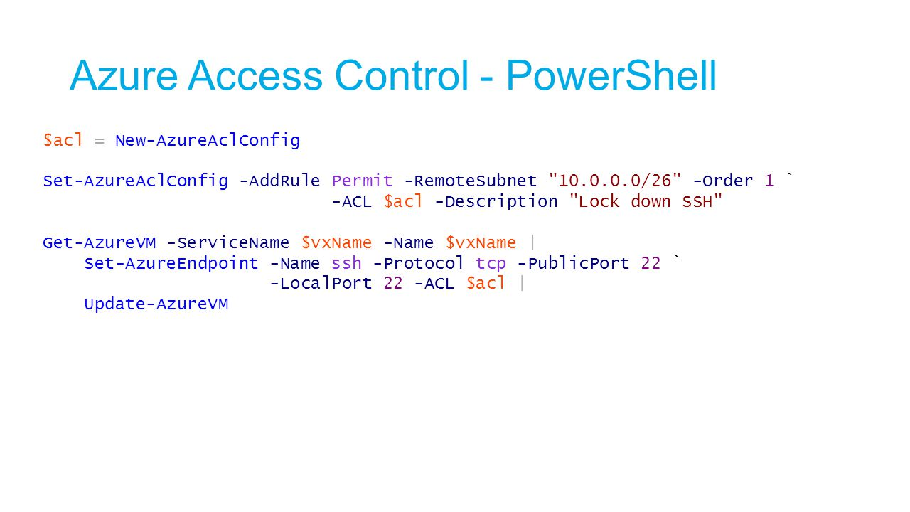 Azure Access Control - PowerShell