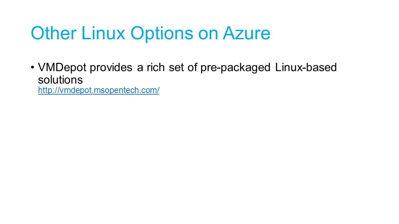 Other Linux Options on Azure