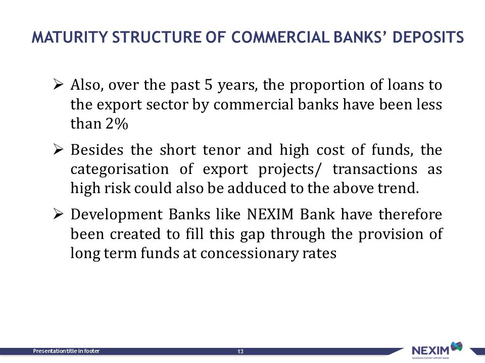 MATURITY STRUCTURE OF COMMERCIAL BANKS' DEPOSITS
