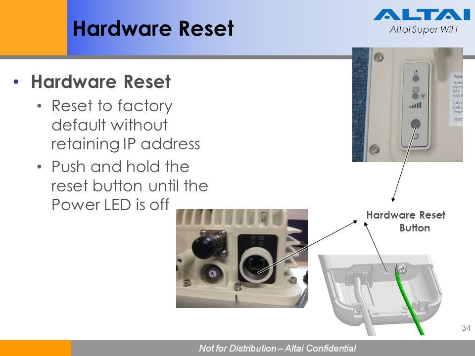 Hardware Reset Hardware Reset