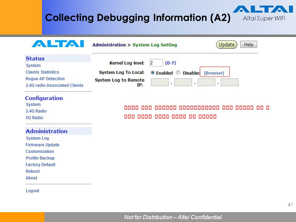 Collecting Debugging Information (A2)