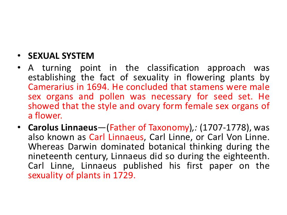 SEXUAL SYSTEM