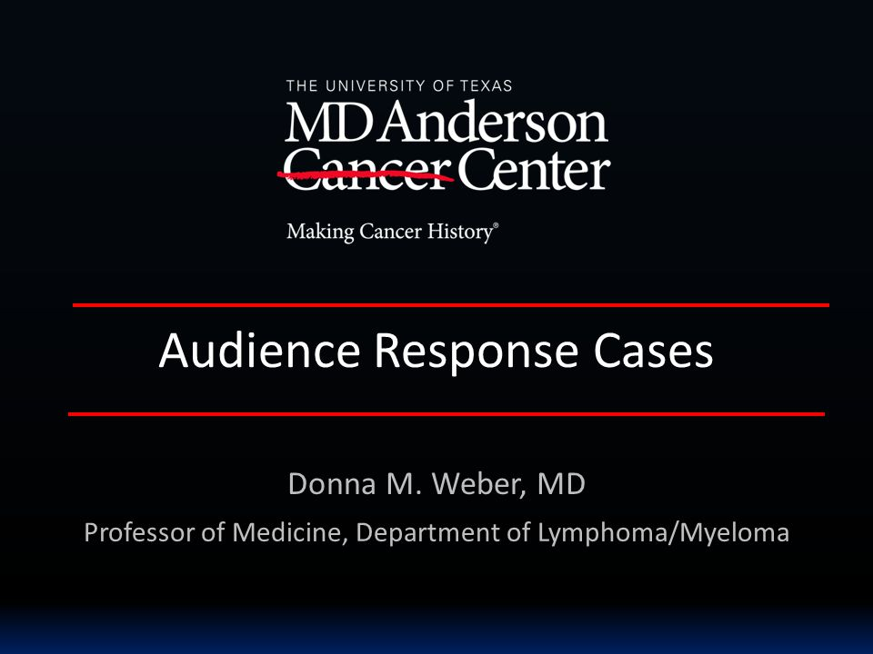 Audience Response Cases