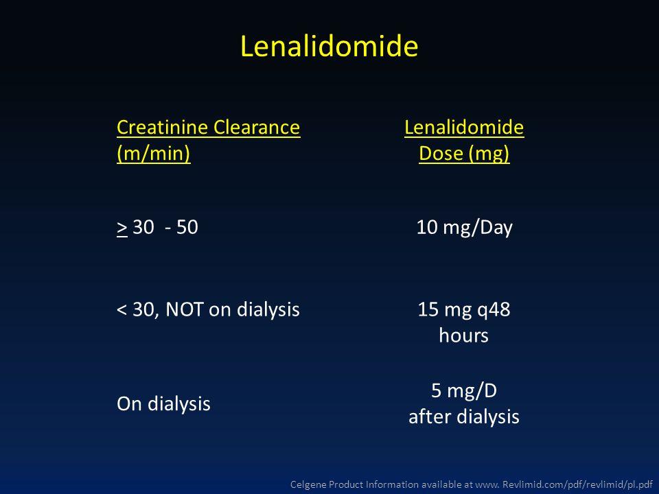 Lenalidomide Dose (mg)