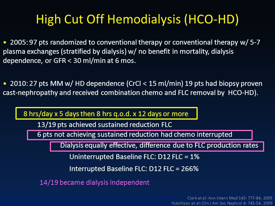 High Cut Off Hemodialysis (HCO-HD)