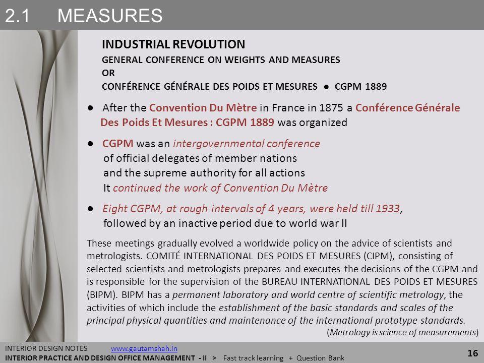 2.1 MEASURES INDUSTRIAL REVOLUTION