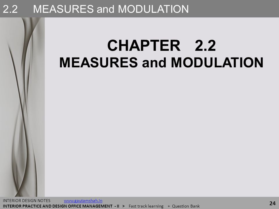 2.2 MEASURES and MODULATION