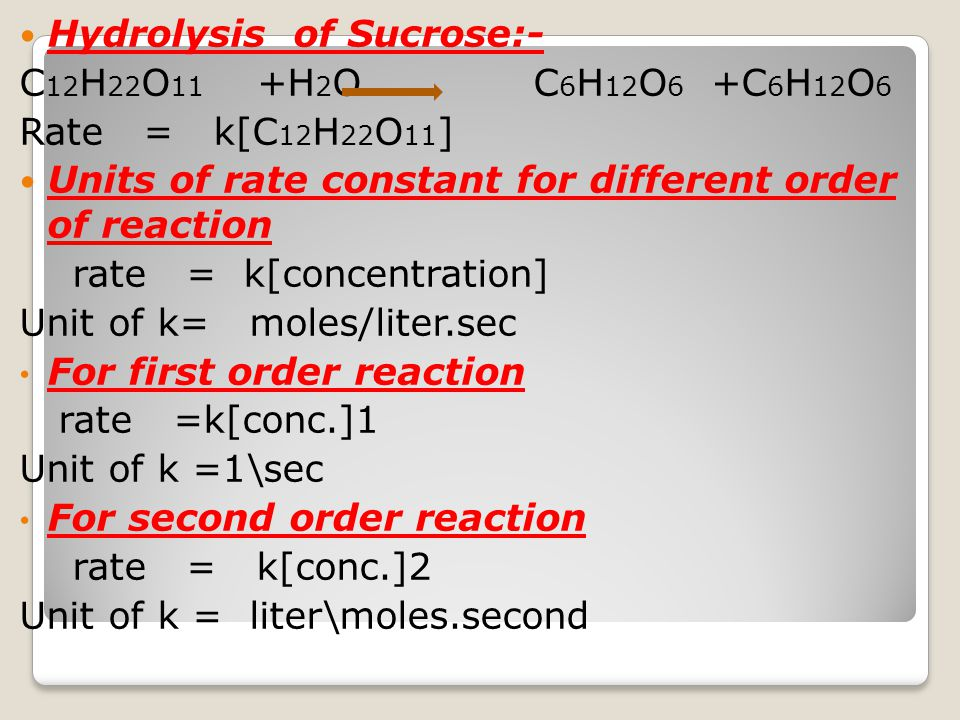 Hydrolysis of Sucrose:-