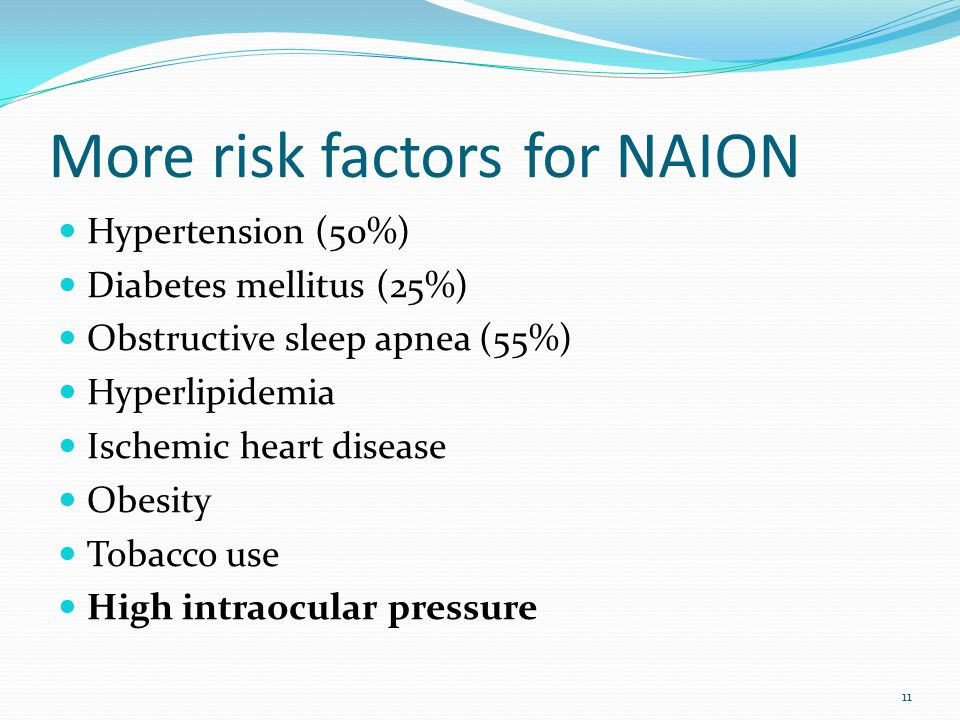 More risk factors for NAION