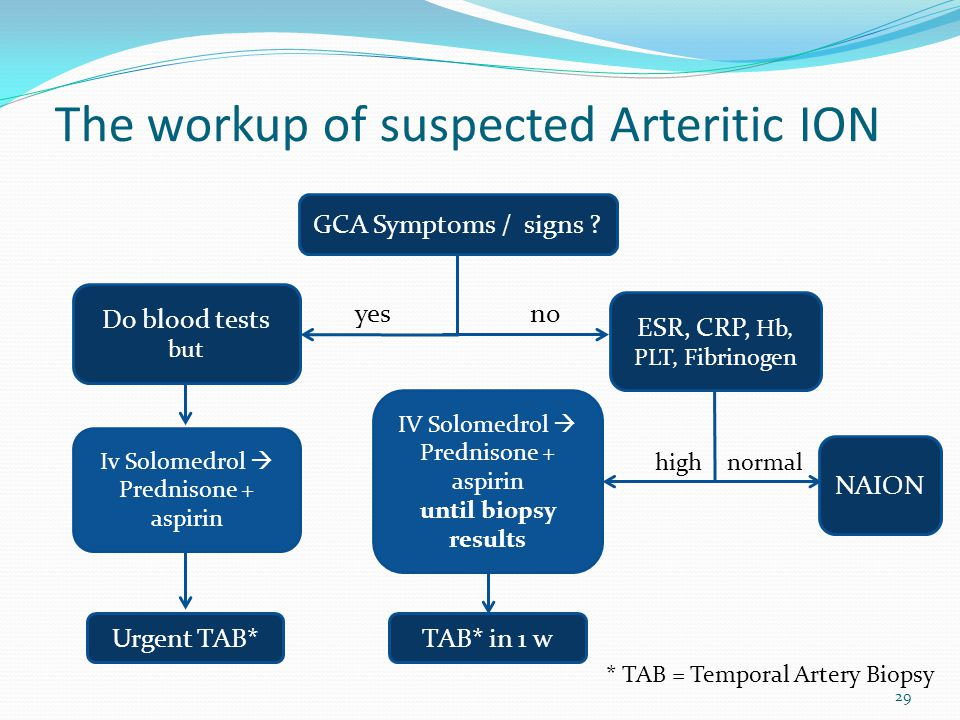 The workup of suspected Arteritic ION