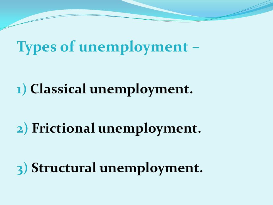 Types of unemployment –