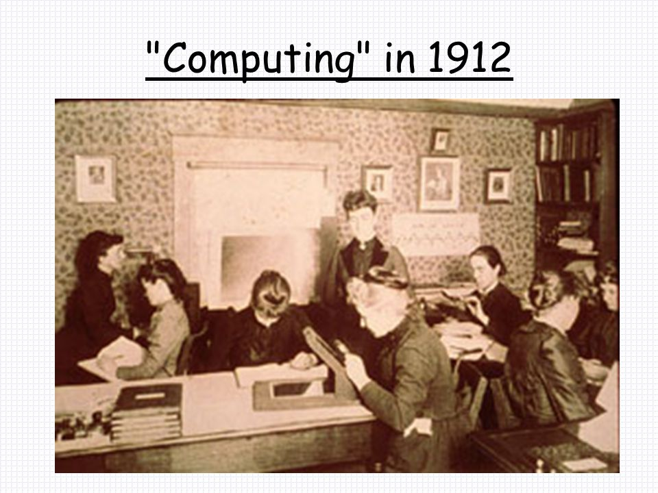 Computing in 1912