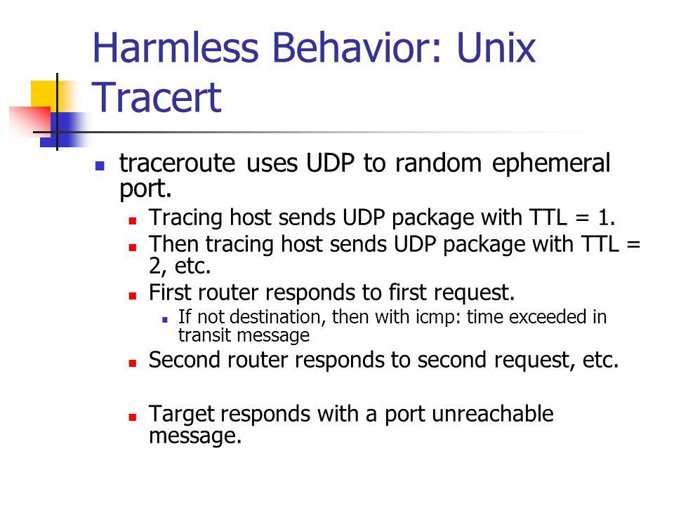 Harmless Behavior: Unix Tracert