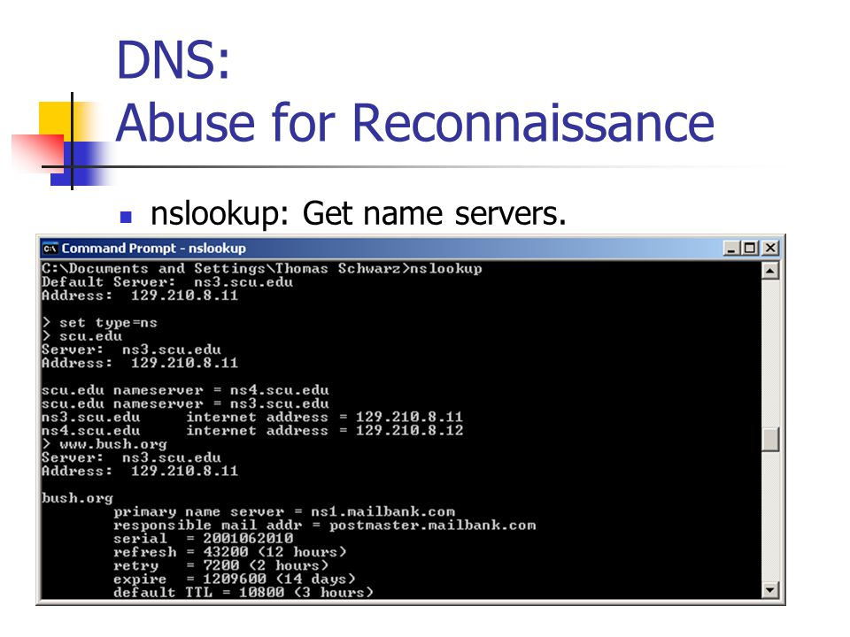 DNS: Abuse for Reconnaissance