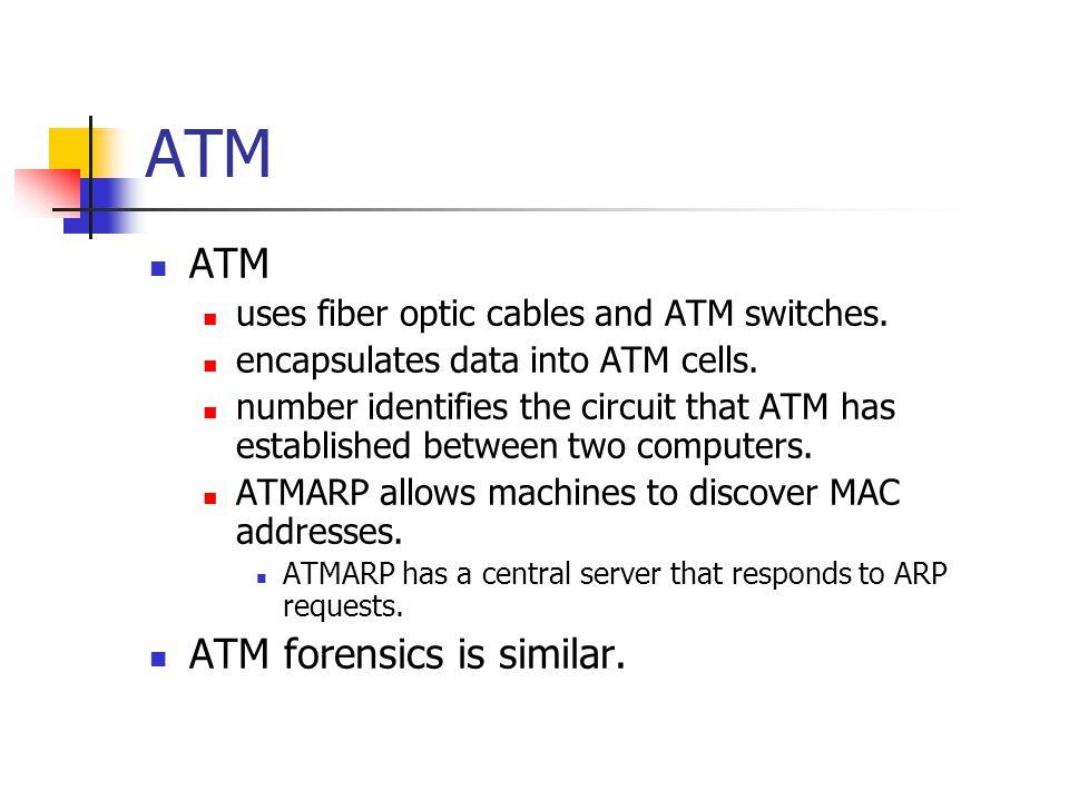ATM ATM ATM forensics is similar.