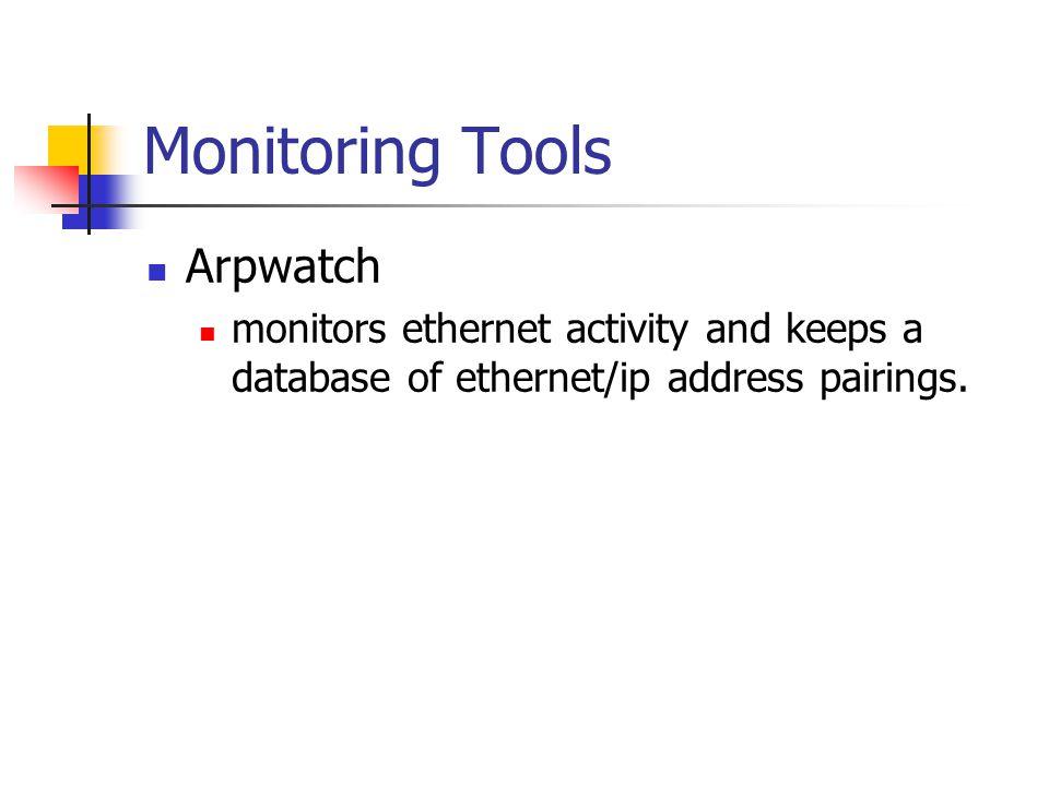 Monitoring Tools Arpwatch