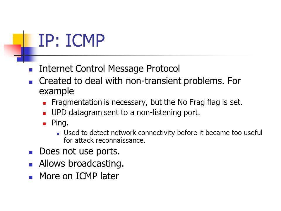 IP: ICMP Internet Control Message Protocol