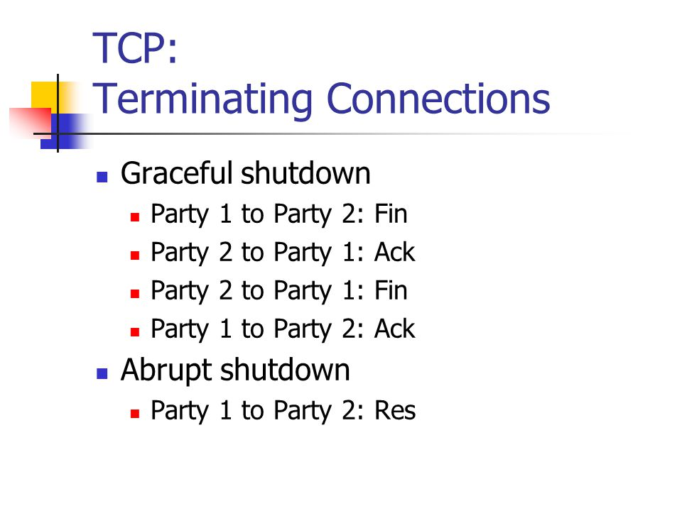 TCP: Terminating Connections