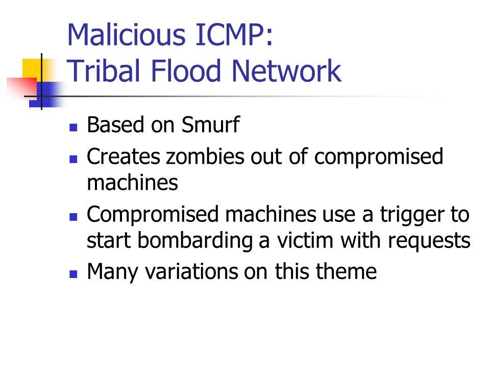 Malicious ICMP: Tribal Flood Network