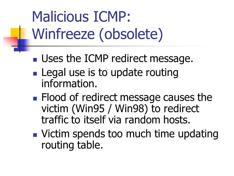 Malicious ICMP: Winfreeze (obsolete)