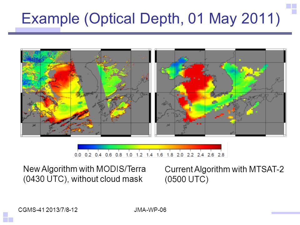 Example (Optical Depth, 01 May 2011)