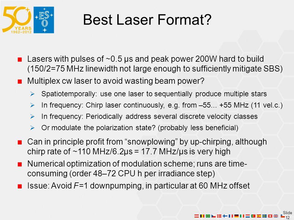 Best Laser Format