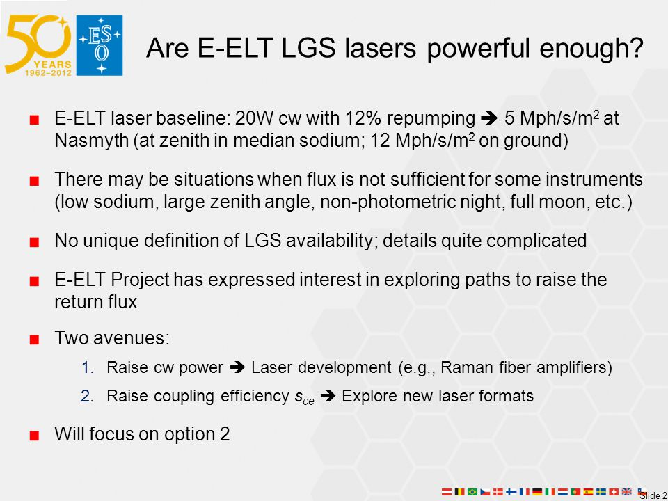 Are E-ELT LGS lasers powerful enough