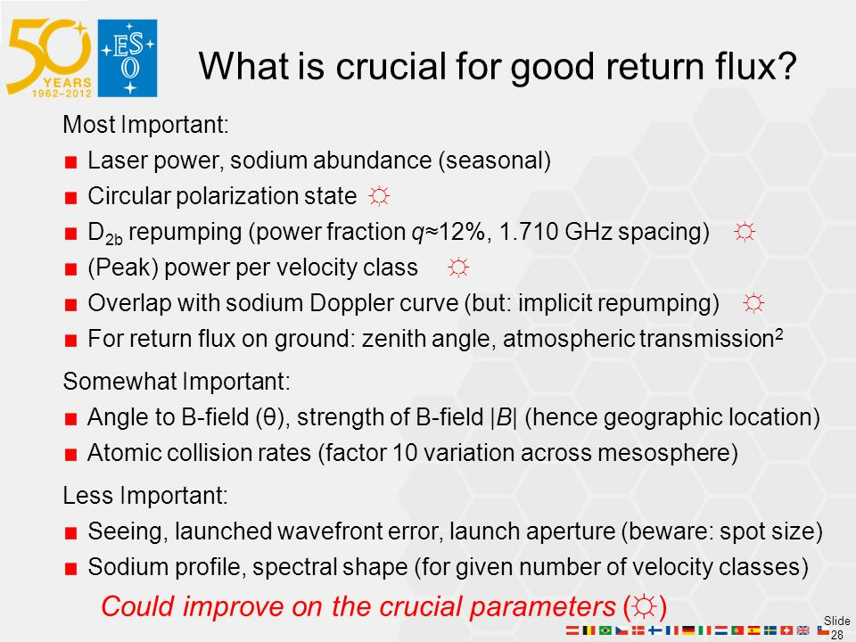 What is crucial for good return flux