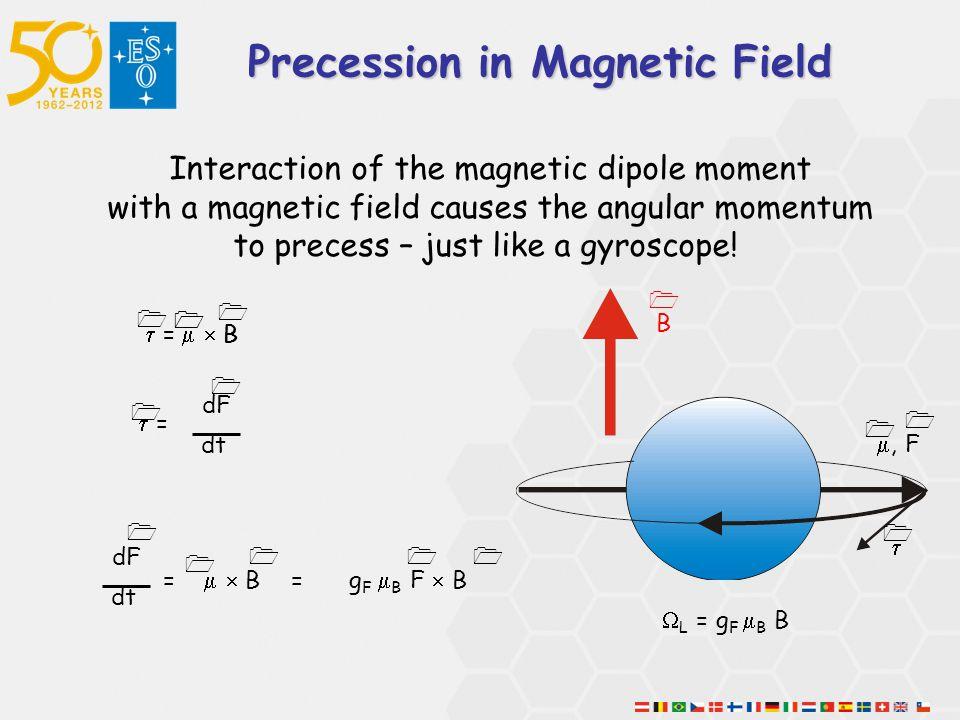 Precession in Magnetic Field