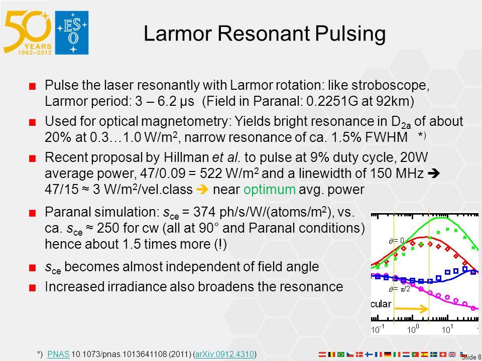 Larmor Resonant Pulsing