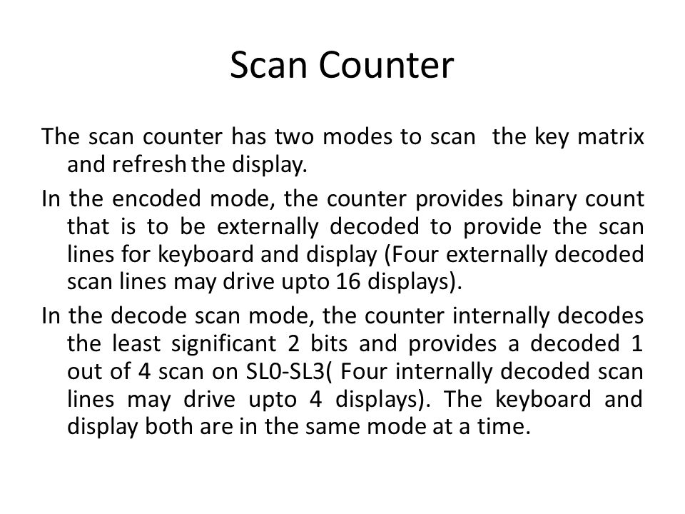 Scan Counter