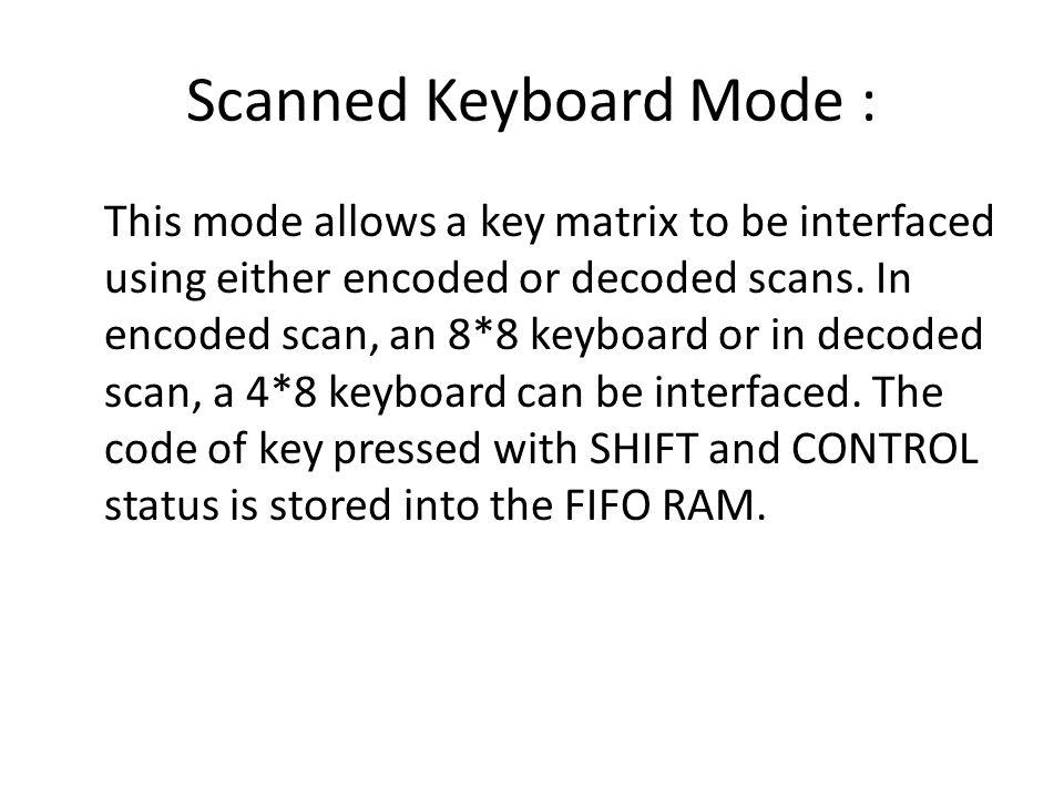Scanned Keyboard Mode :