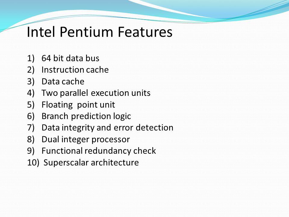 Intel Pentium Features