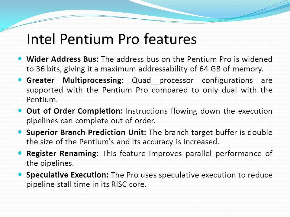 Intel Pentium Pro features