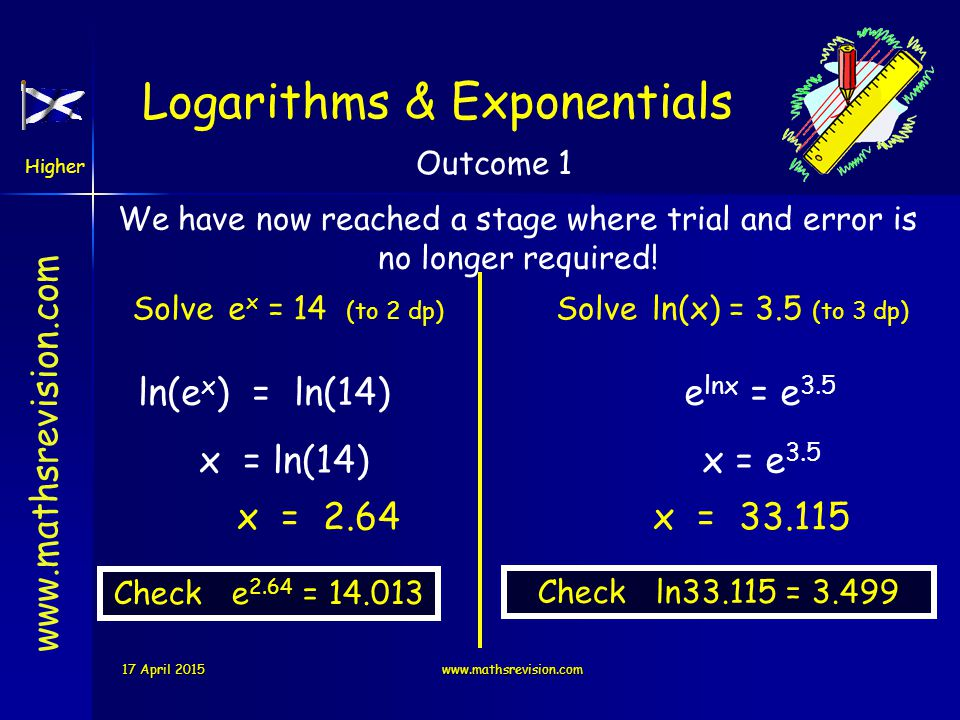 Logarithms & Exponentials