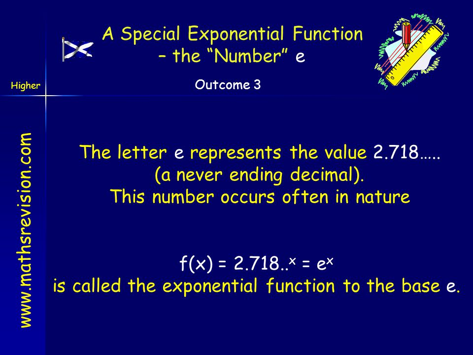 A Special Exponential Function – the Number e