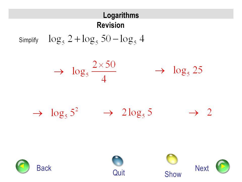 Logarithms Revision
