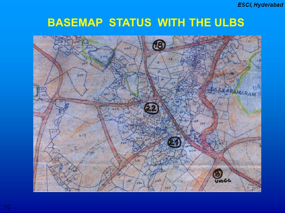 BASEMAP STATUS WITH THE ULBS