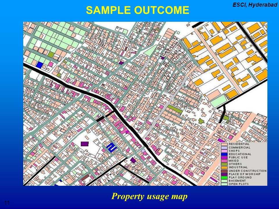 SAMPLE OUTCOME Property usage map
