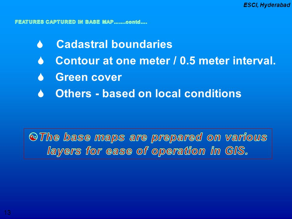  Contour at one meter / 0.5 meter interval.  Green cover