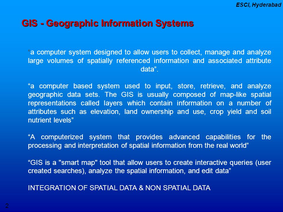 GIS - Geographic Information Systems