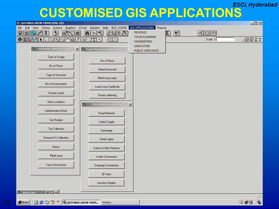 CUSTOMISED GIS APPLICATIONS