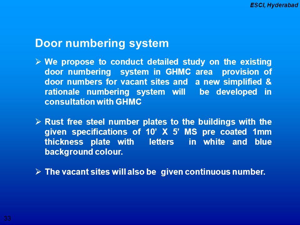 Door numbering system