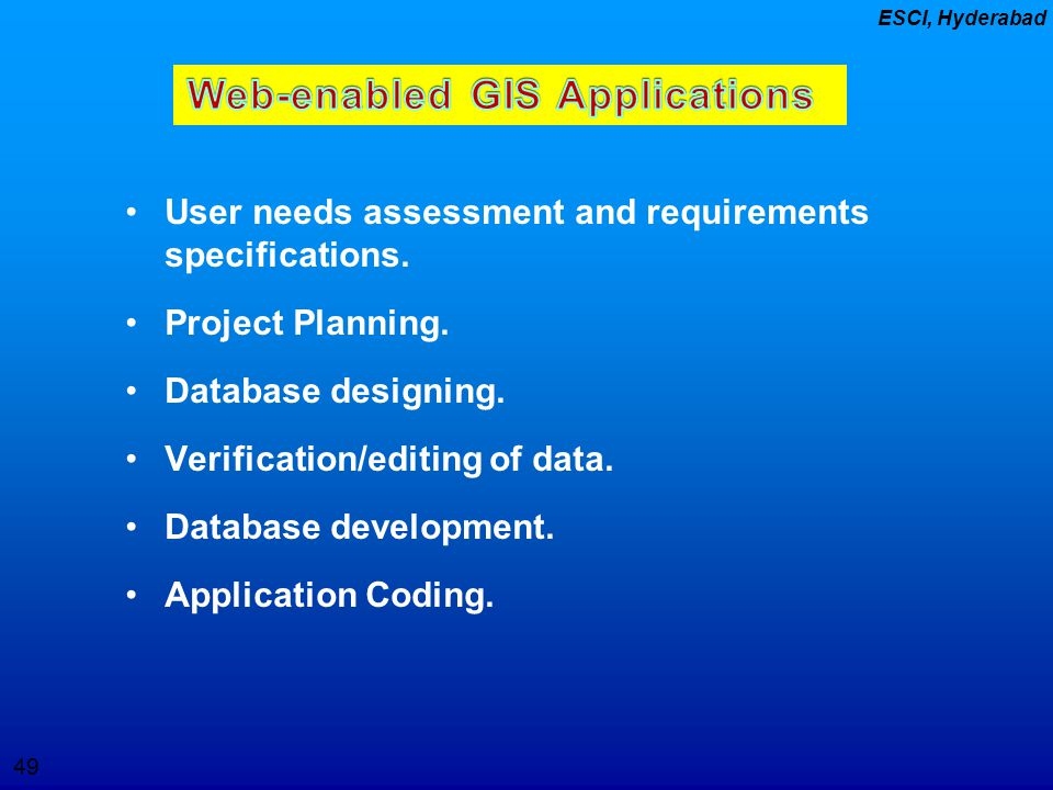 Web-enabled GIS Applications