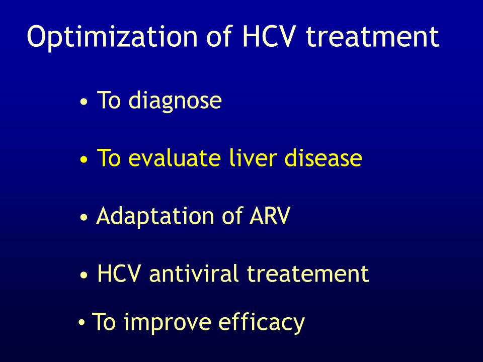 Optimization of HCV treatment