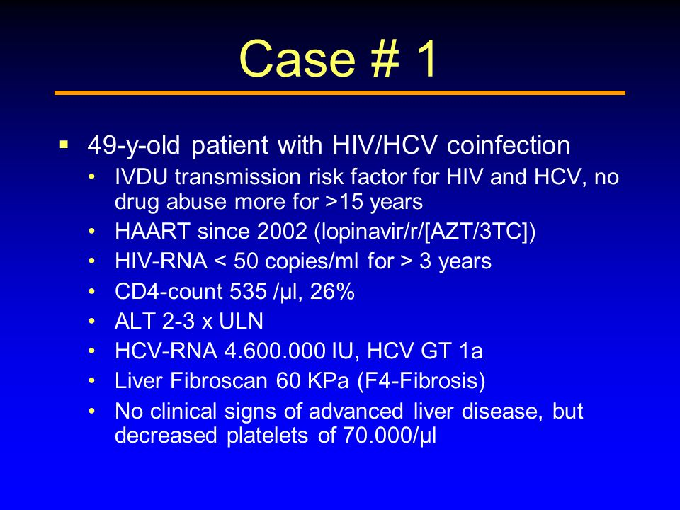 Case # 1 49-y-old patient with HIV/HCV coinfection