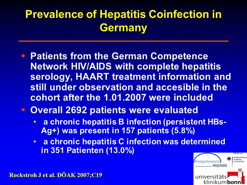 Prevalence of Hepatitis Coinfection in Germany